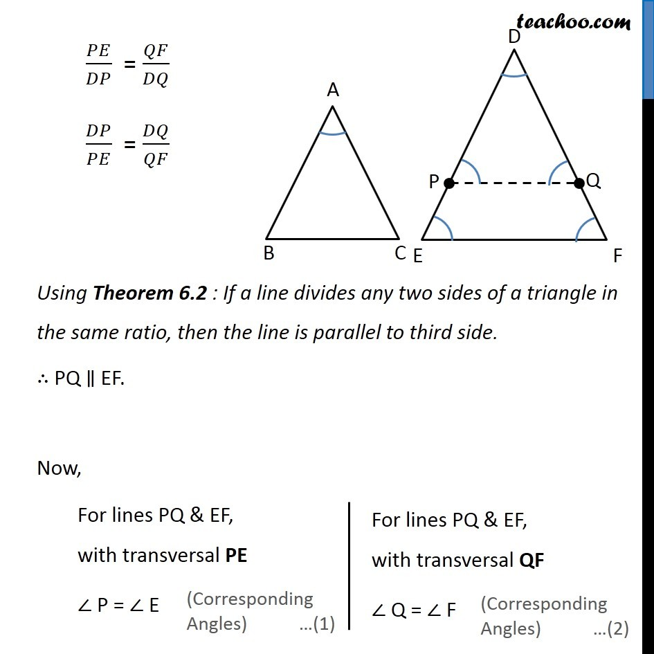 Theorem 6.5 - Chapter 6 Class 10 Triangles - Part 3