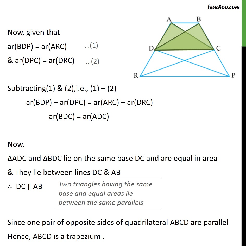 Ex 9.3, 16 - Chapter 9 Class 9 Areas of Parallelograms and Triangles - Part 2