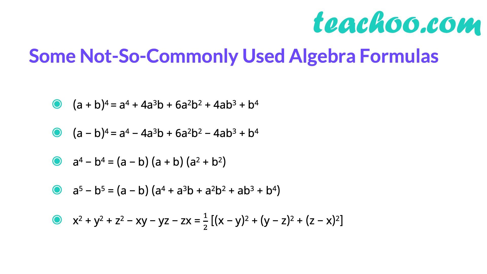 Some Not So commonly used Algebra formulas - Algebra formulas - Teachoo.jpg