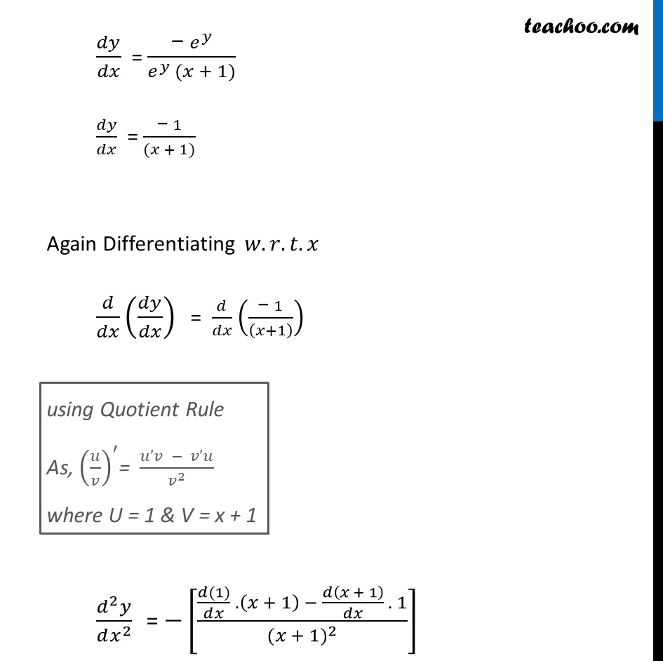 Ex 5.7, 16 - Chapter 5 Class 12 Continuity and Differentiability - Part 3