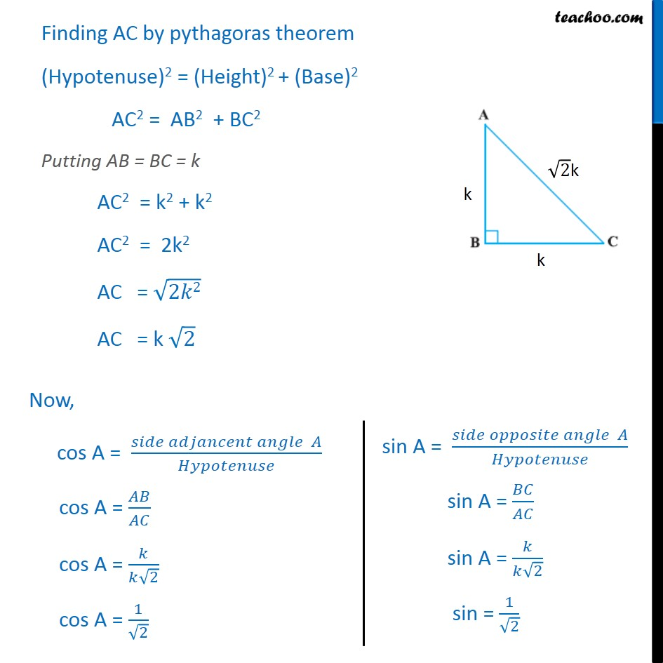 Example 4 - Chapter 8 Class 10 Introduction to Trignometry - Part 2