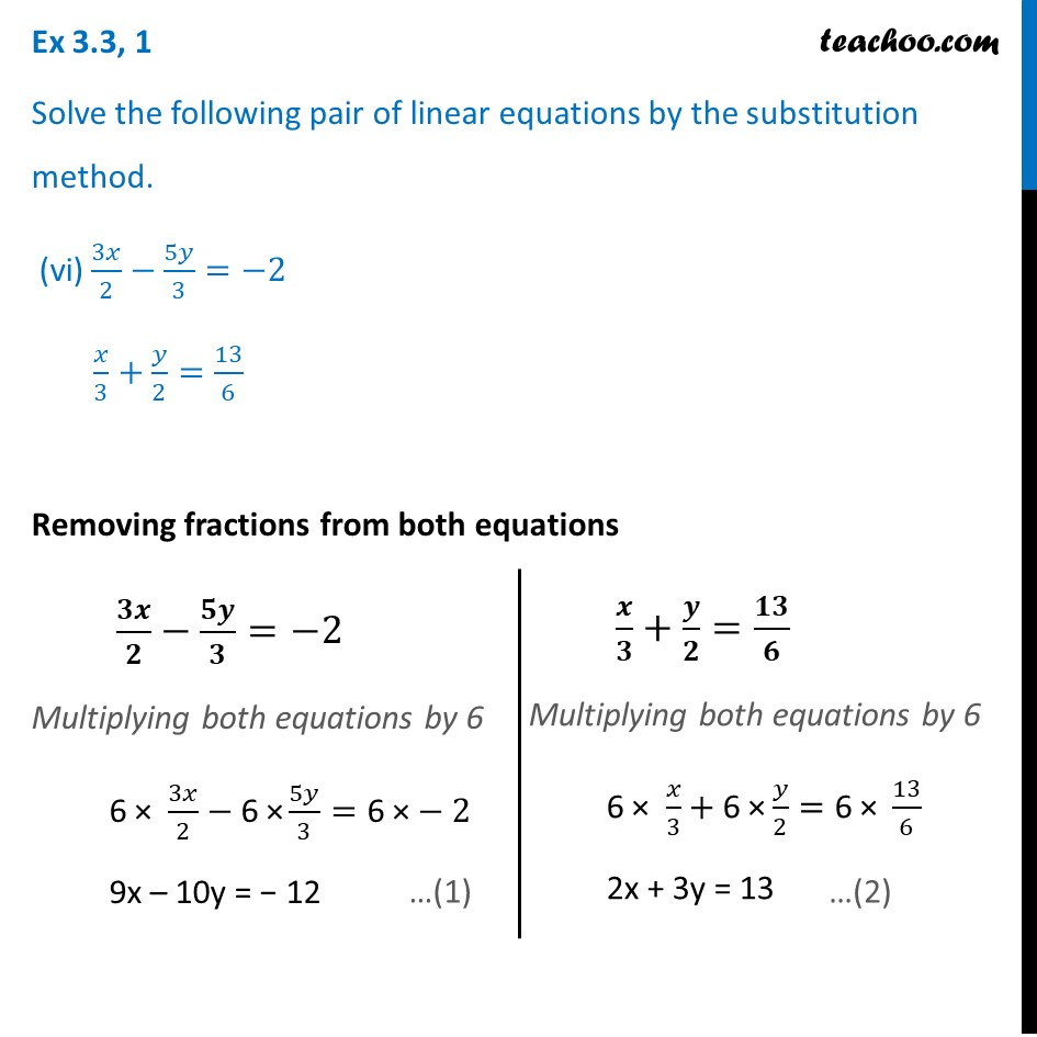 Ex 3.3, 1 - Chapter 3 Class 10 Pair of Linear Equations in Two Variables - Part 17