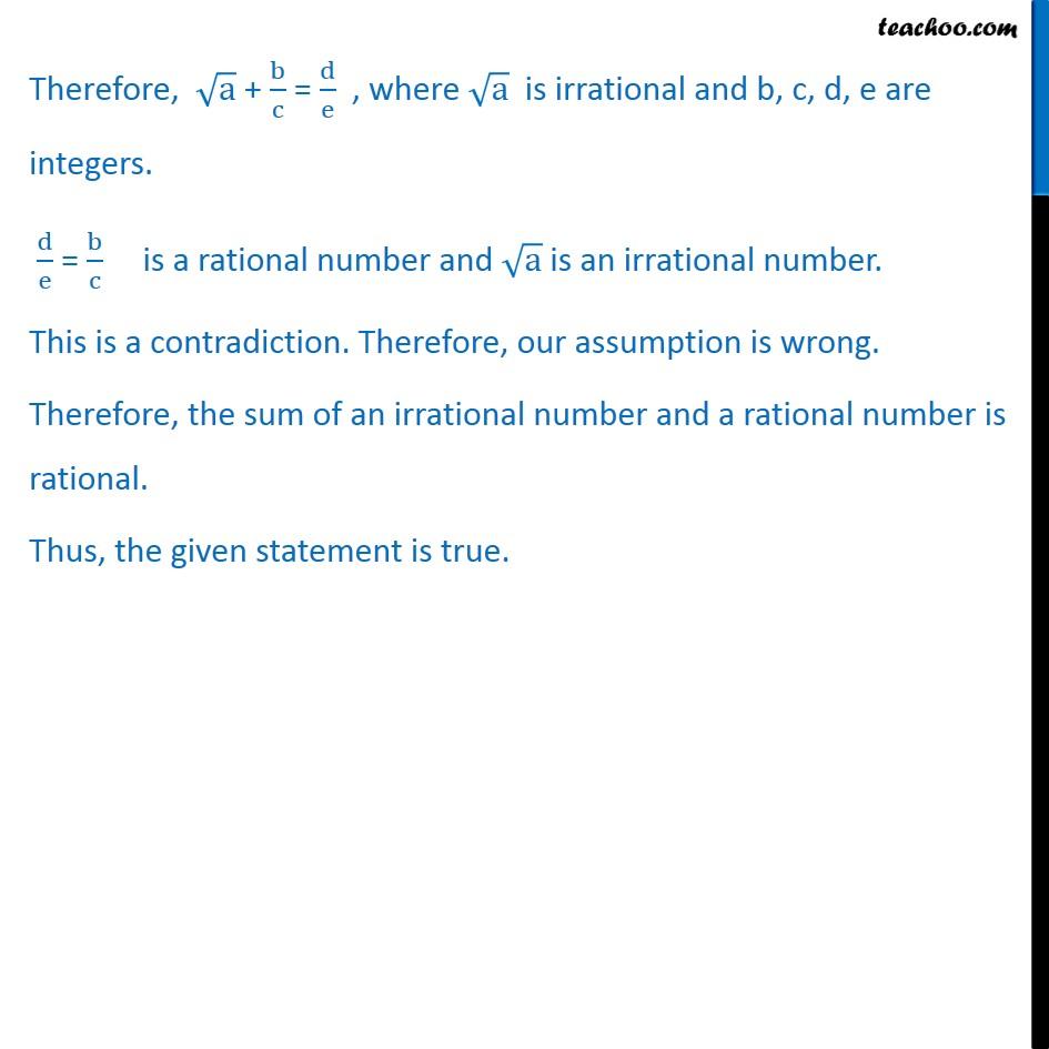 Misc  6 - Chapter 14 Class 11 Mathematical Reasoning - Part 2