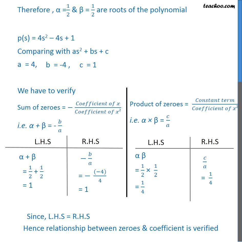 Ex 2.2, 1 - Chapter 2 Class 10 Polynomials - Part 4