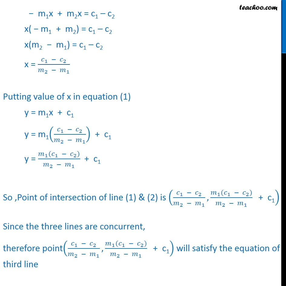 Misc 10 - Chapter 10 Class 11 Straight Lines - Part 2