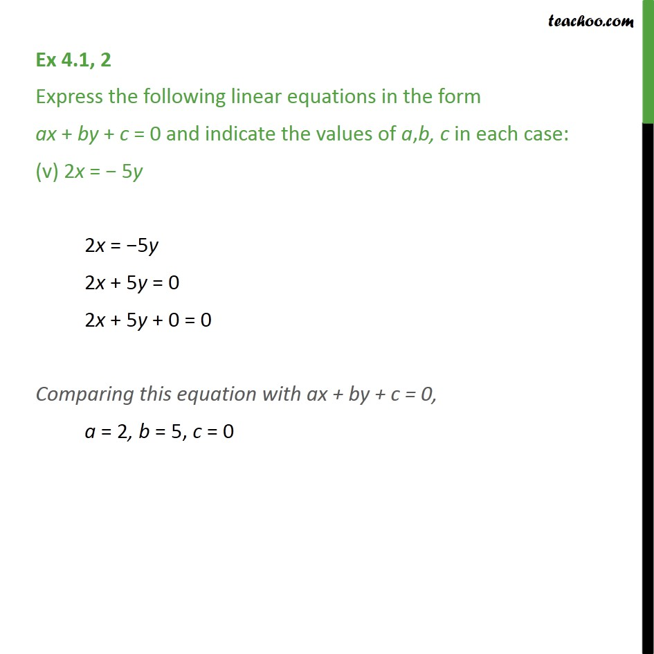 Ex 4.1, 2 - Chapter 4 Class 9 Linear Equations in Two Variables - Part 5