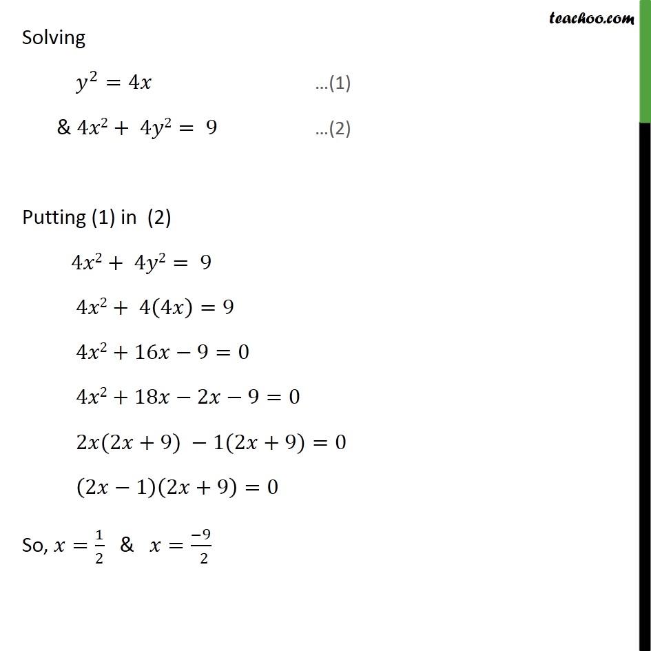 Misc 15 - Chapter 8 Class 12 Application of Integrals - Part 3