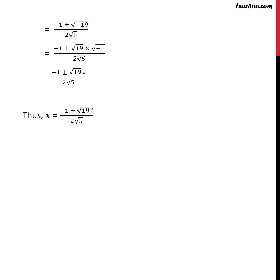 Example 11 - Chapter 5 Class 11 Complex Numbers - Part 2