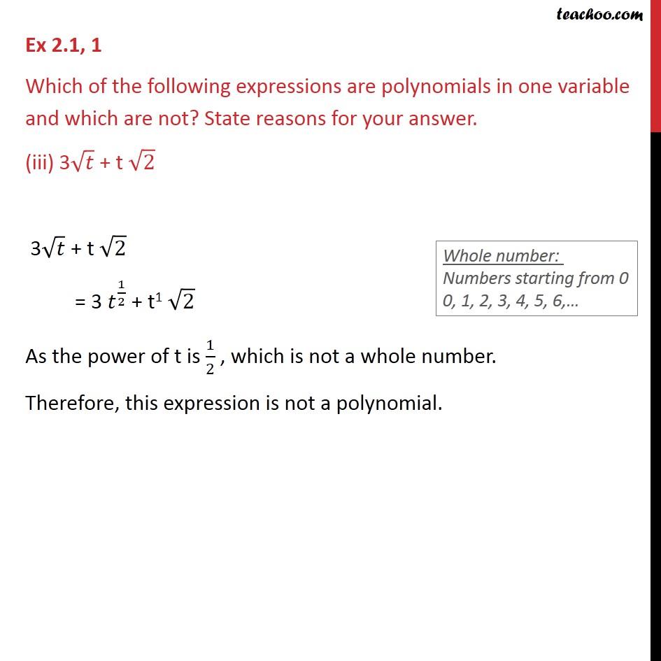 Ex 2.1, 1 - Chapter 2 Class 9 Polynomials - Part 3