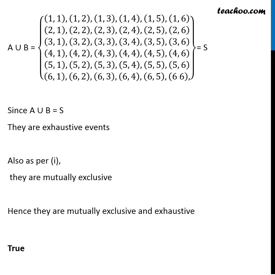 Ex 16.2, 7 - Chapter 16 Class 11 Probability - Part 4