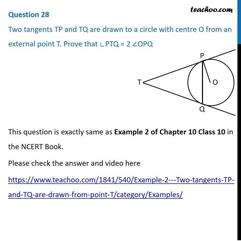 Question 28 - Maths Basic - CBSE Sample Paper 2021 - Teachoo