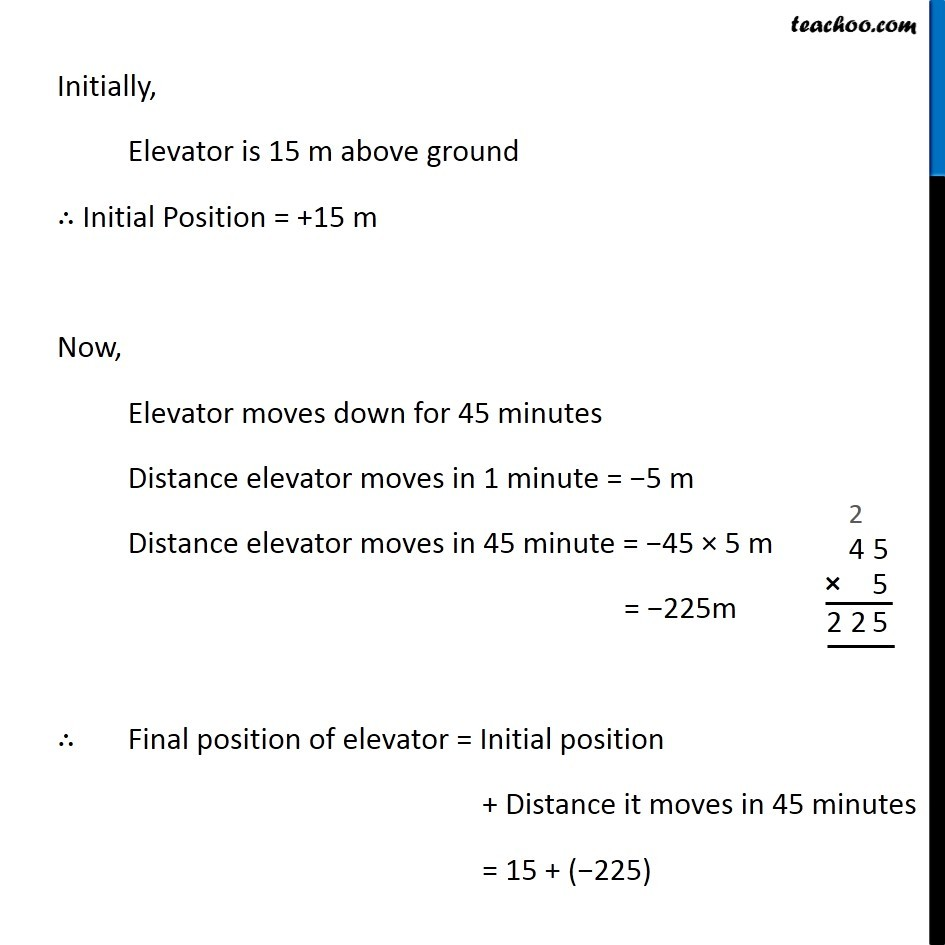 Example 5 - Chapter 1 Class 7 Integers - Part 4