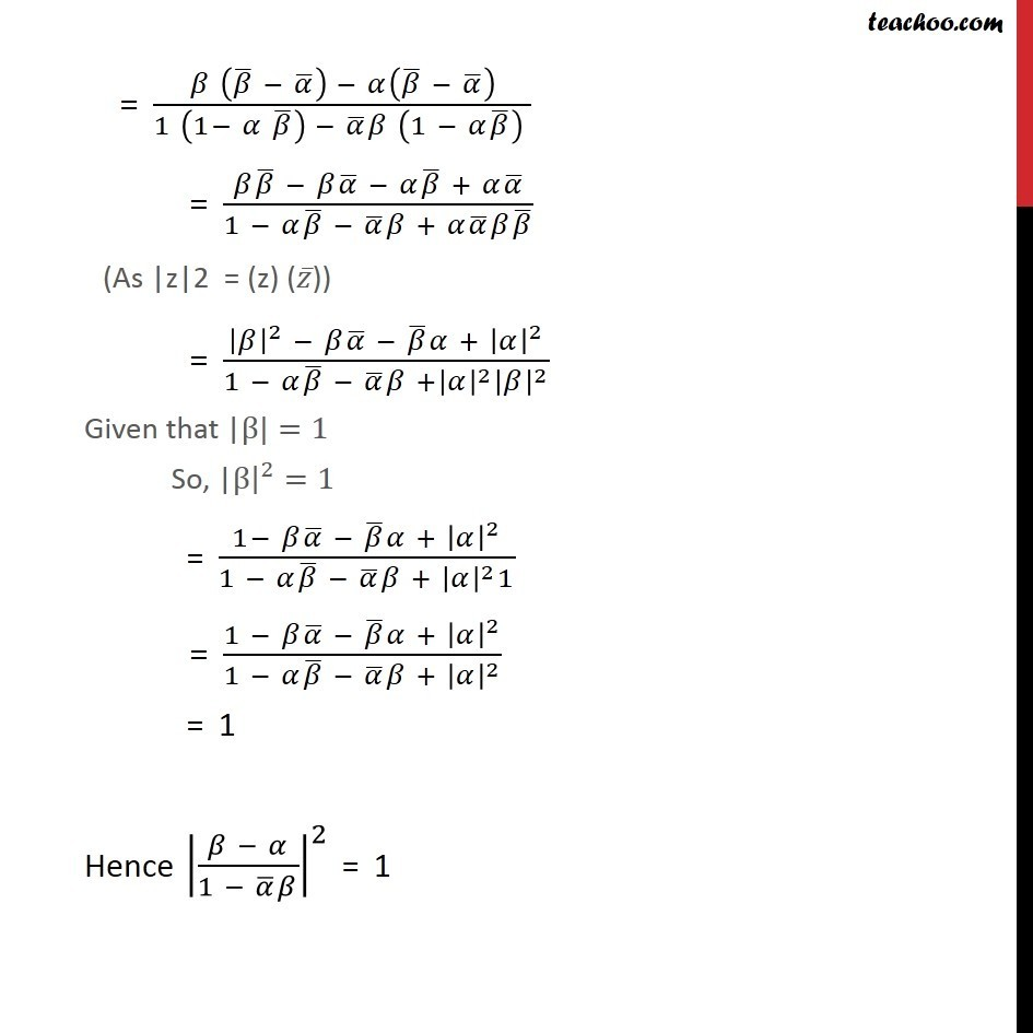 Misc 17 - Chapter 5 Class 11 Complex Numbers - Part 2