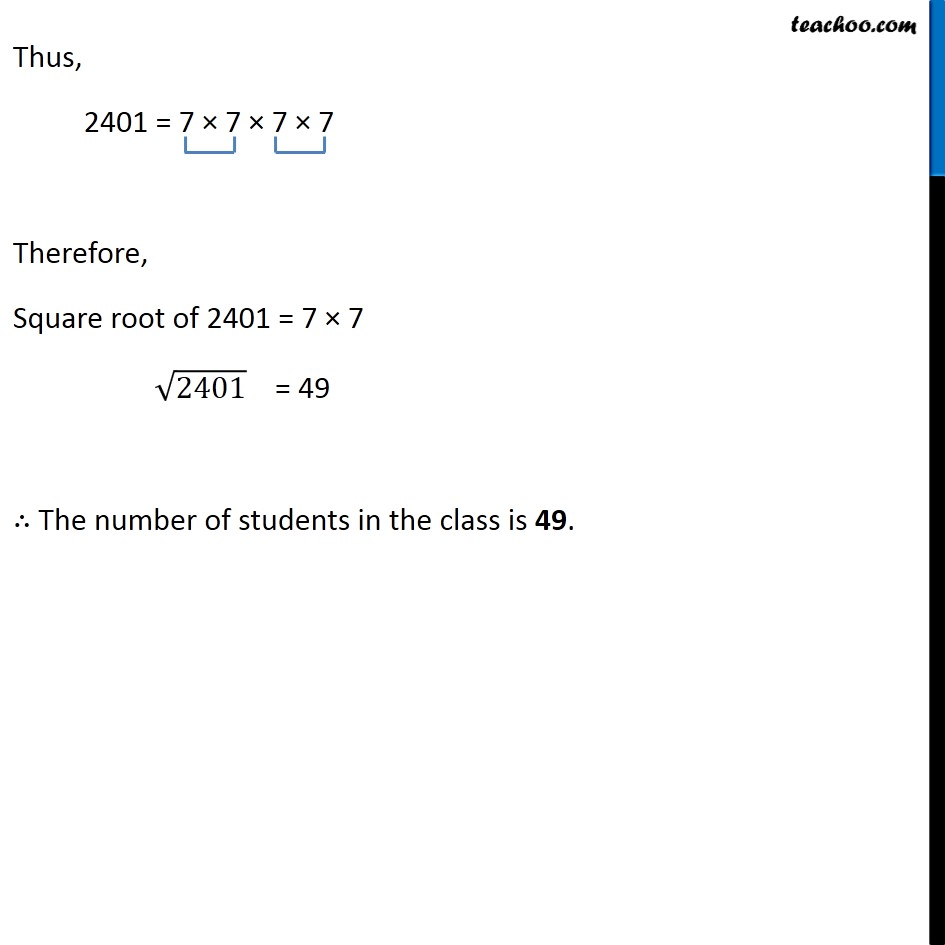 Ex 6.3, 7 - Chapter 6 Class 8 Squares and Square Roots - Part 5