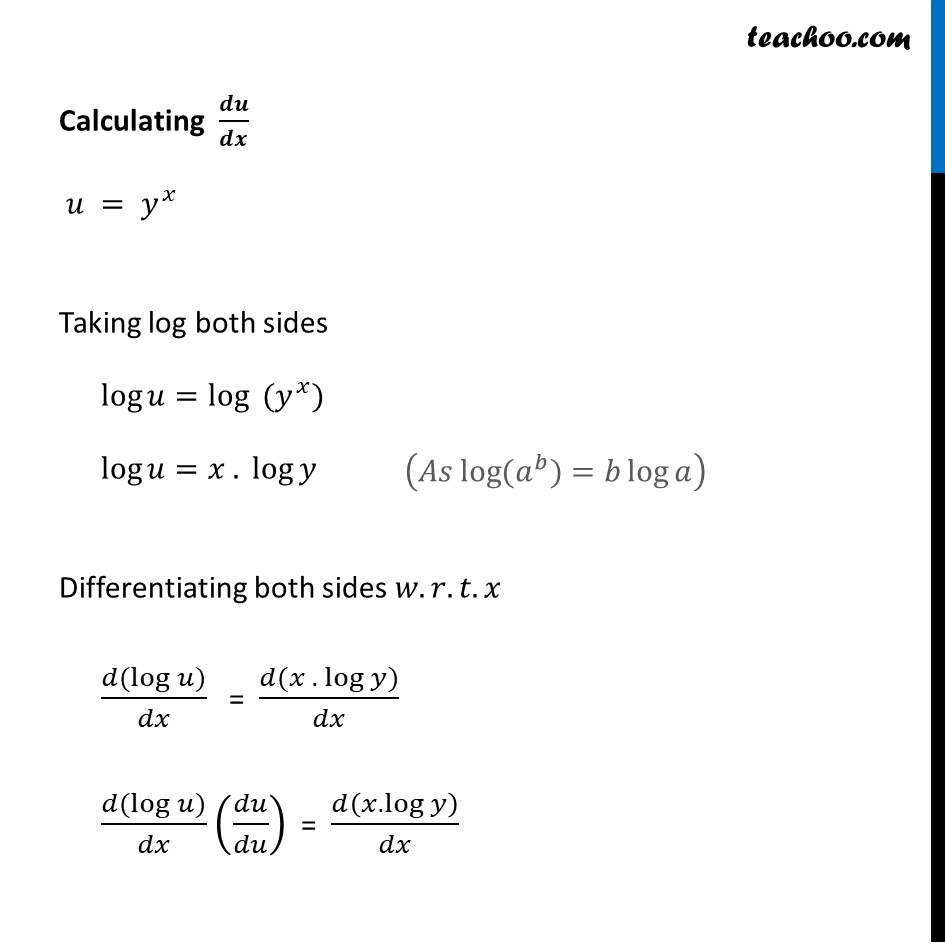 Ex 5.5, 12 - Chapter 5 Class 12 Continuity and Differentiability - Part 4
