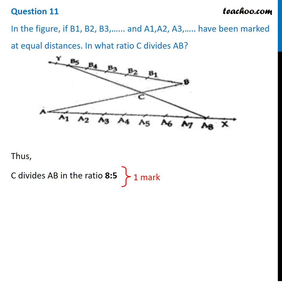 In the figure, if B1, B2, B3,…... and A1,A2, A3,….. have been marked