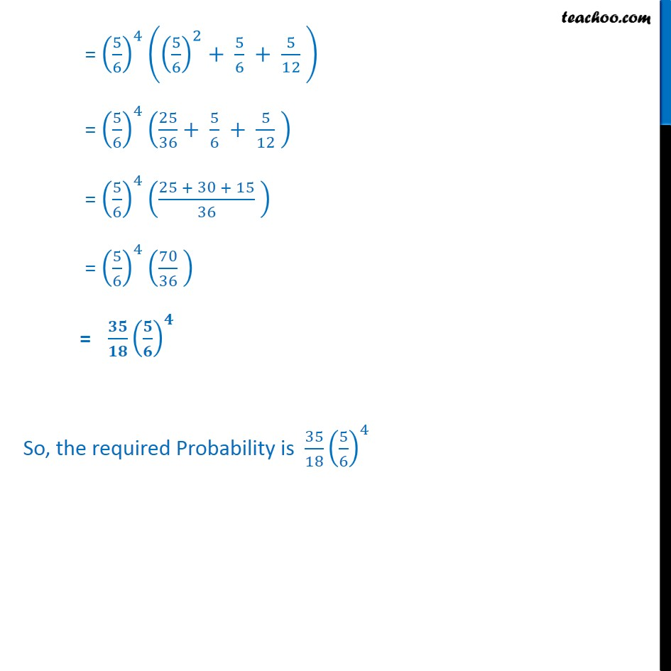Ex 13.5, 12 - Chapter 13 Class 12 Probability - Part 3
