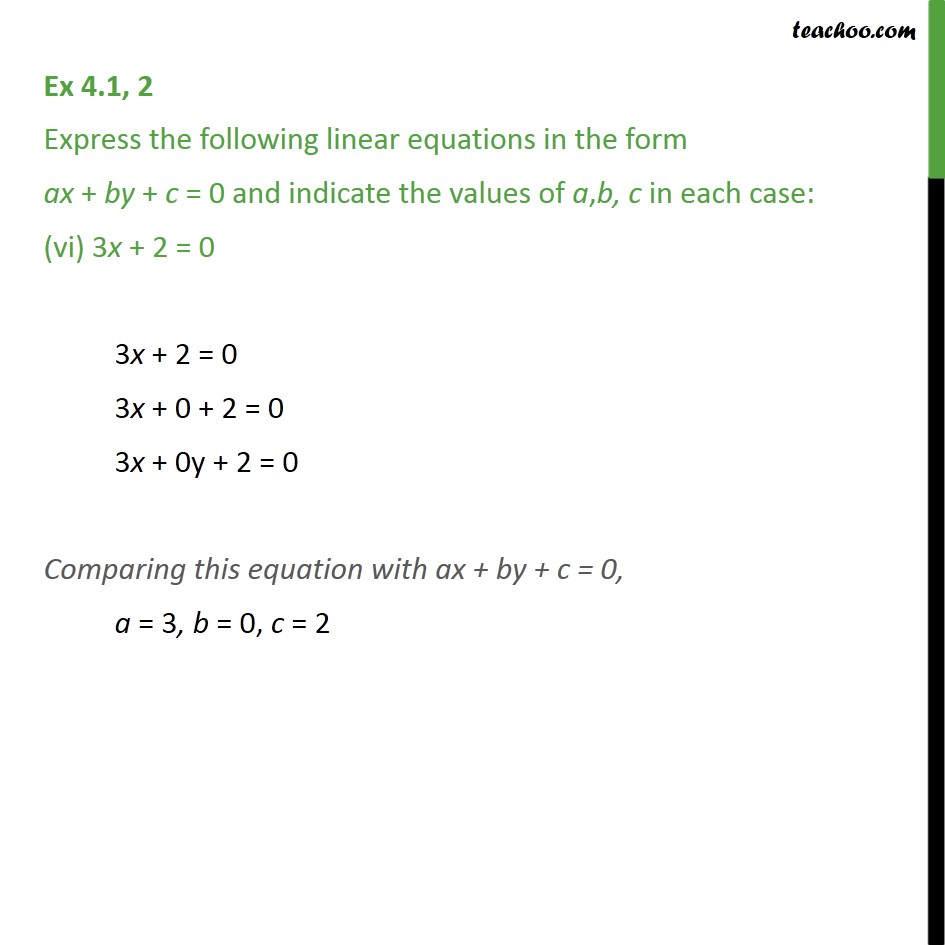 Ex 4.1, 2 - Chapter 4 Class 9 Linear Equations in Two Variables - Part 6