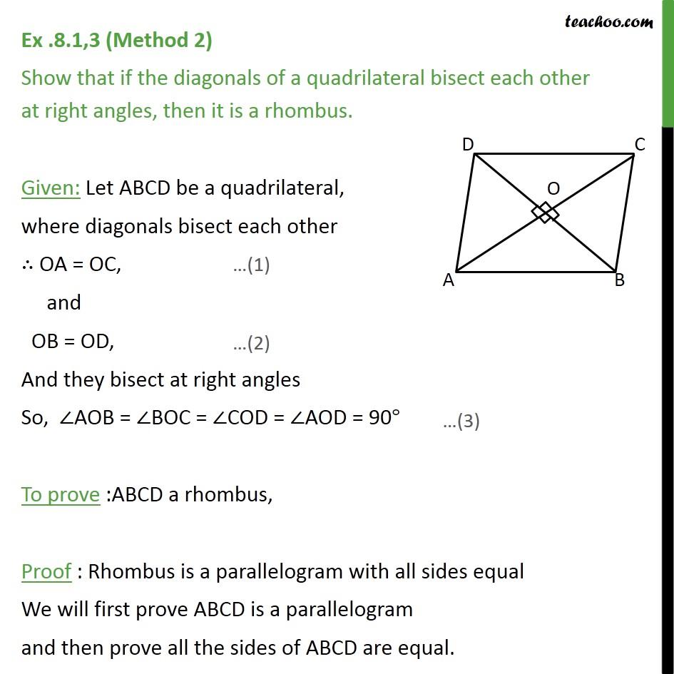 Ex 8.1, 3 - Chapter 8 Class 9 Quadrilaterals - Part 4