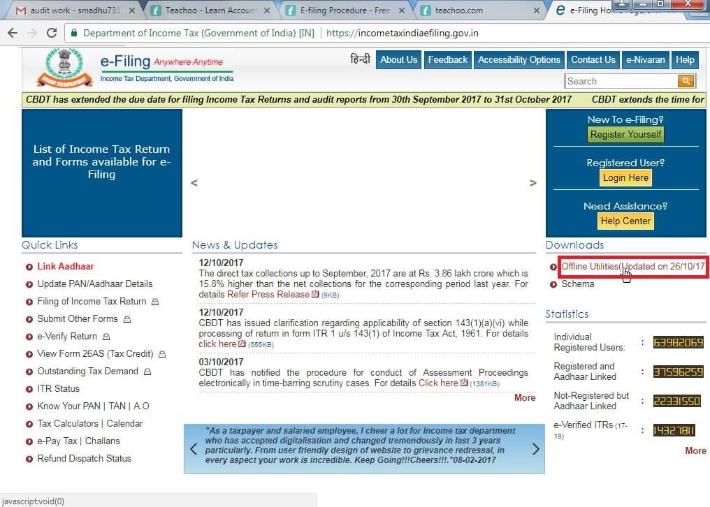 1. Go to incometax click offline utilities.jpg