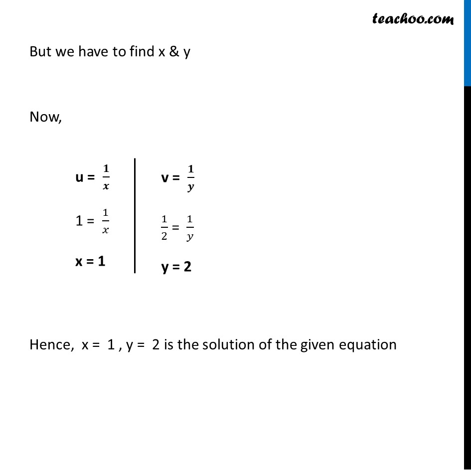 Ex 3.6, 1 (v) and (vi) - Chapter 3 Class 10 Pair of Linear Equations in Two Variables - Part 10