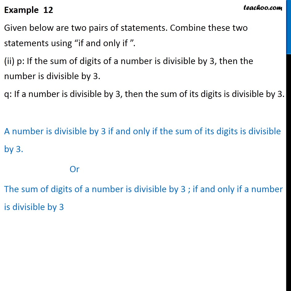Example  12 - Chapter 14 Class 11 Mathematical Reasoning - Part 2