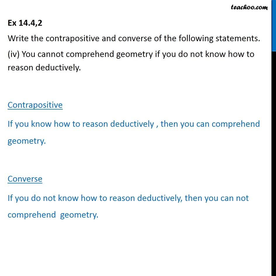 Ex 14.4, 2 - Chapter 14 Class 11 Mathematical Reasoning - Part 5