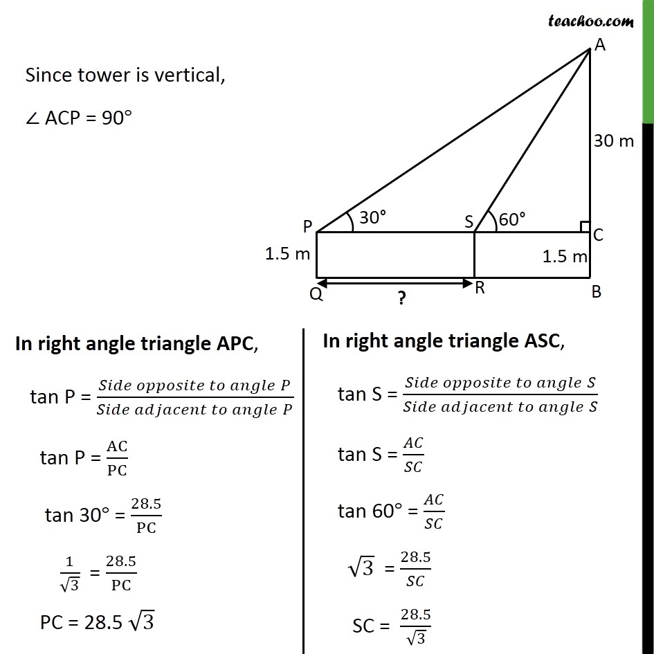 Ex 9.1, 6 - Chapter 9 Class 10 Some Applications of Trigonometry - Part 3
