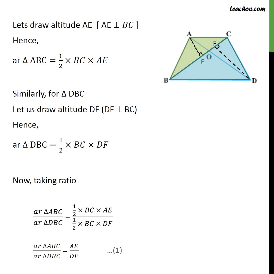 Ex 6.4, 3 - Chapter 6 Class 10 Triangles - Part 2