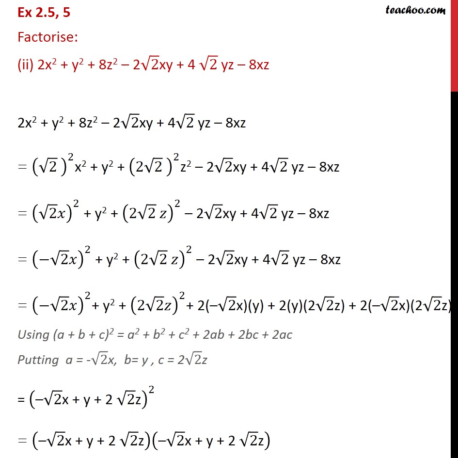 Ex 2.5,5 - Chapter 2 Class 9 Polynomials - Part 2