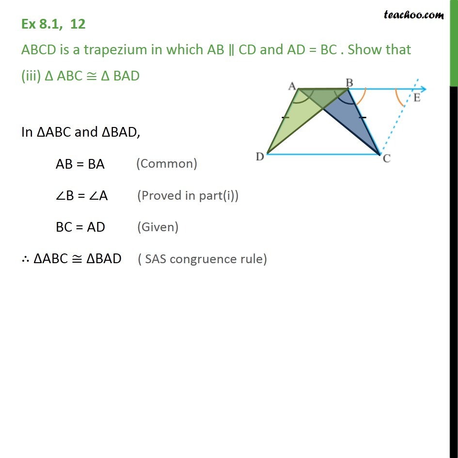 Ex 8.1, 12 - Chapter 8 Class 9 Quadrilaterals - Part 4