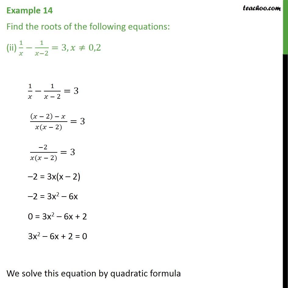 Example 14 - Chapter 4 Class 10 Quadratic Equations - Part 3