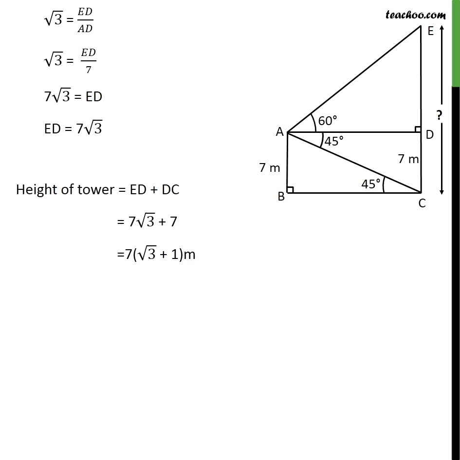 Ex 9.1, 12 - Chapter 9 Class 10 Some Applications of Trigonometry - Part 4