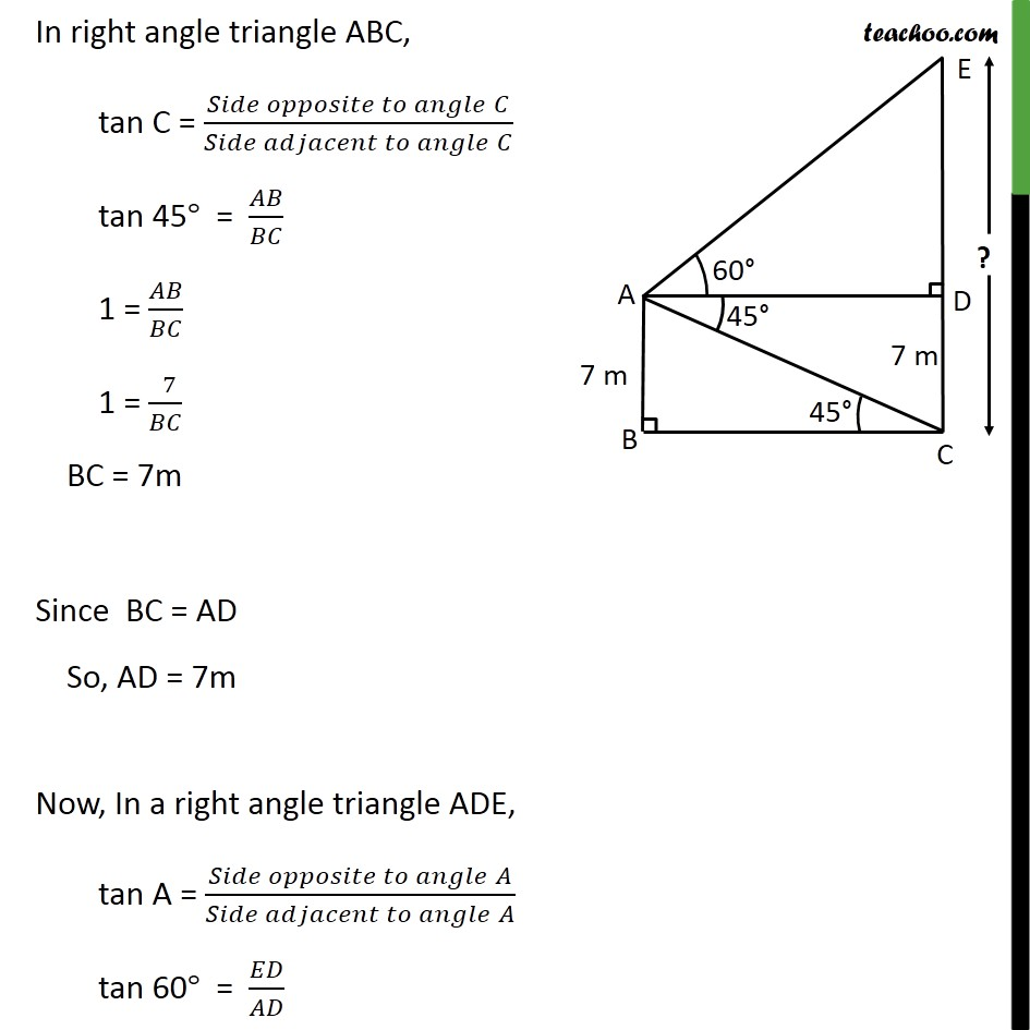 Ex 9.1, 12 - Chapter 9 Class 10 Some Applications of Trigonometry - Part 3