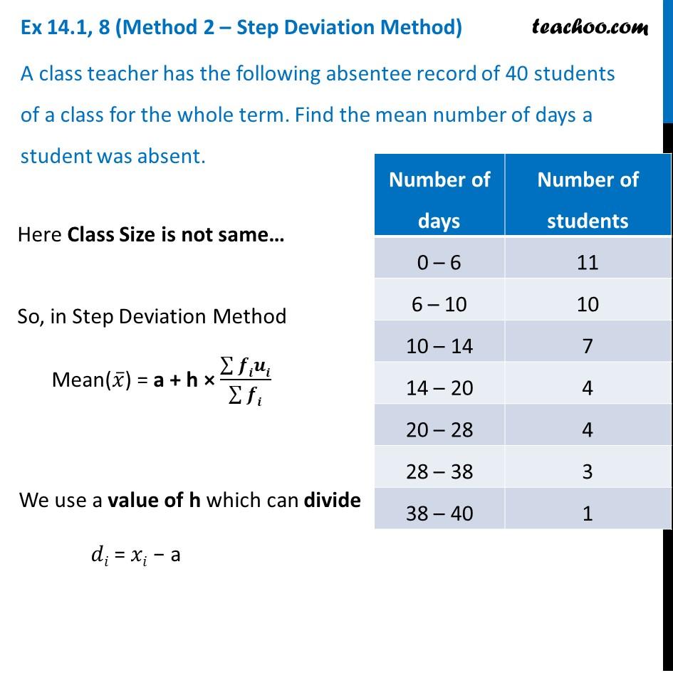 Ex 14.1, 8 - Chapter 14 Class 10 Statistics - Part 4