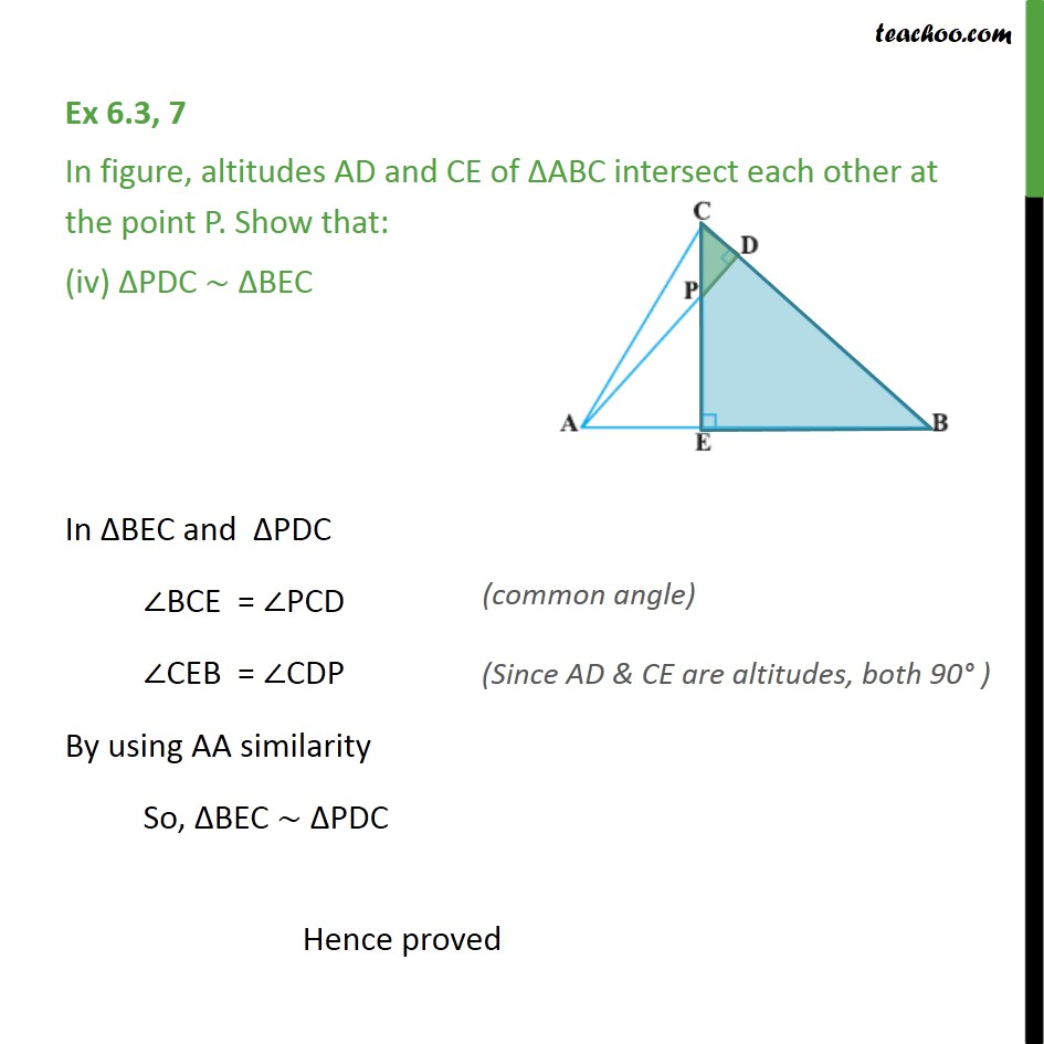 Ex 6.3, 7 - Chapter 6 Class 10 Triangles - Part 4