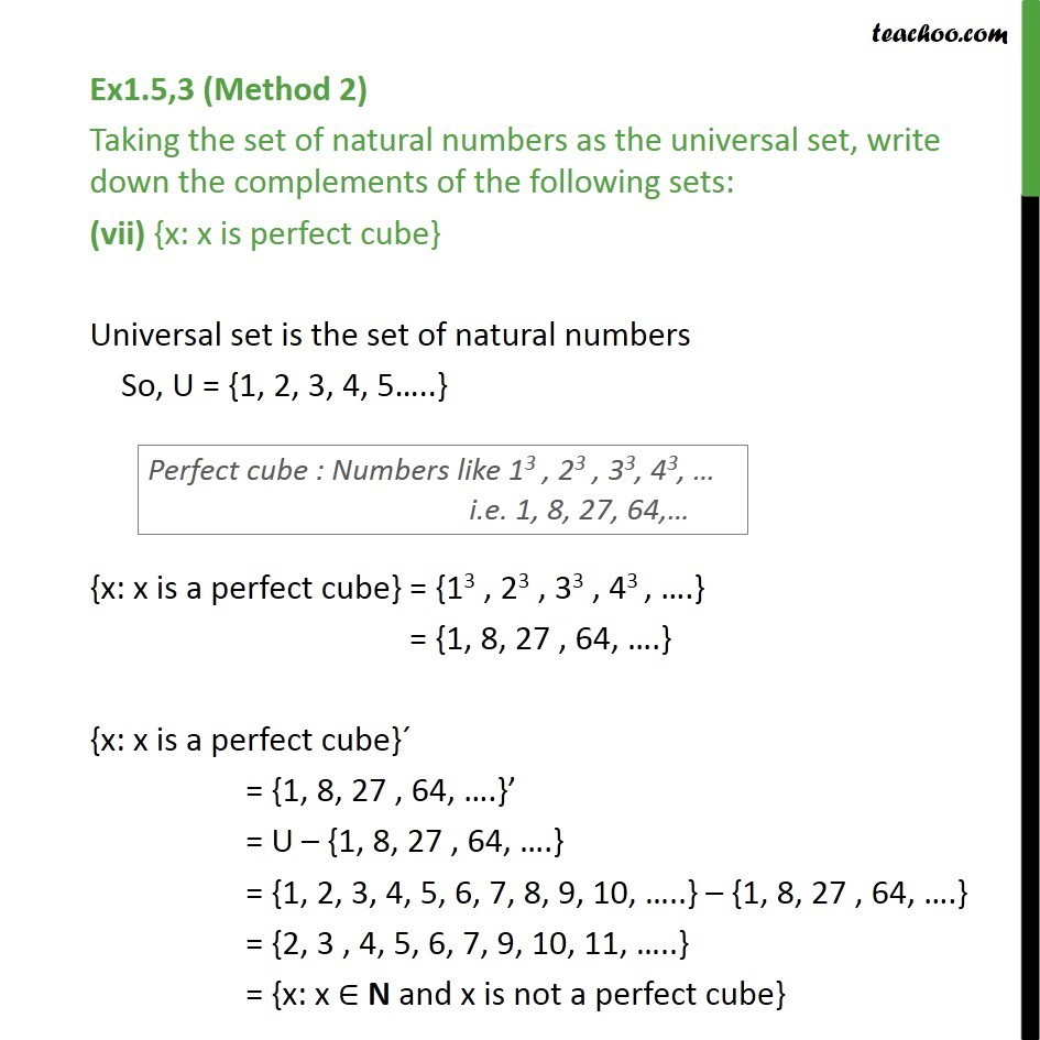 Ex 15 3 Taking Set Of Natural Numbers As Universal Set