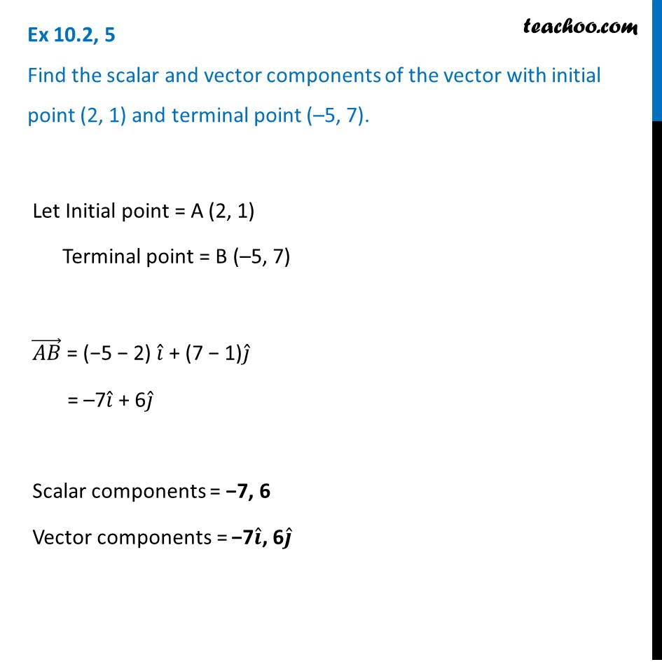 Ex 10.2, 5 - Chapter 10 Class 12 Vector Algebra - Part 2