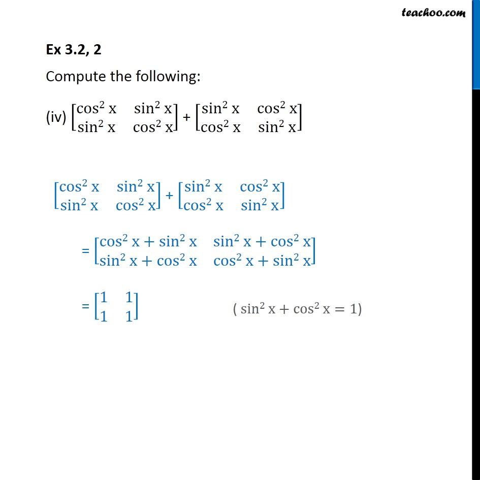 Ex 3.2, 2 - Chapter 3 Class 12 Matrices - Part 4