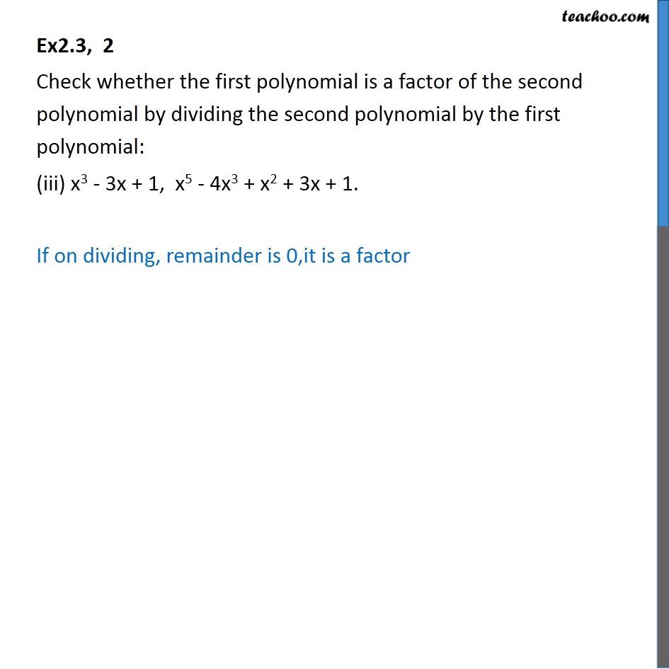 Ex 2.3, 2 - Chapter 2 Class 10 Polynomials - Part 3