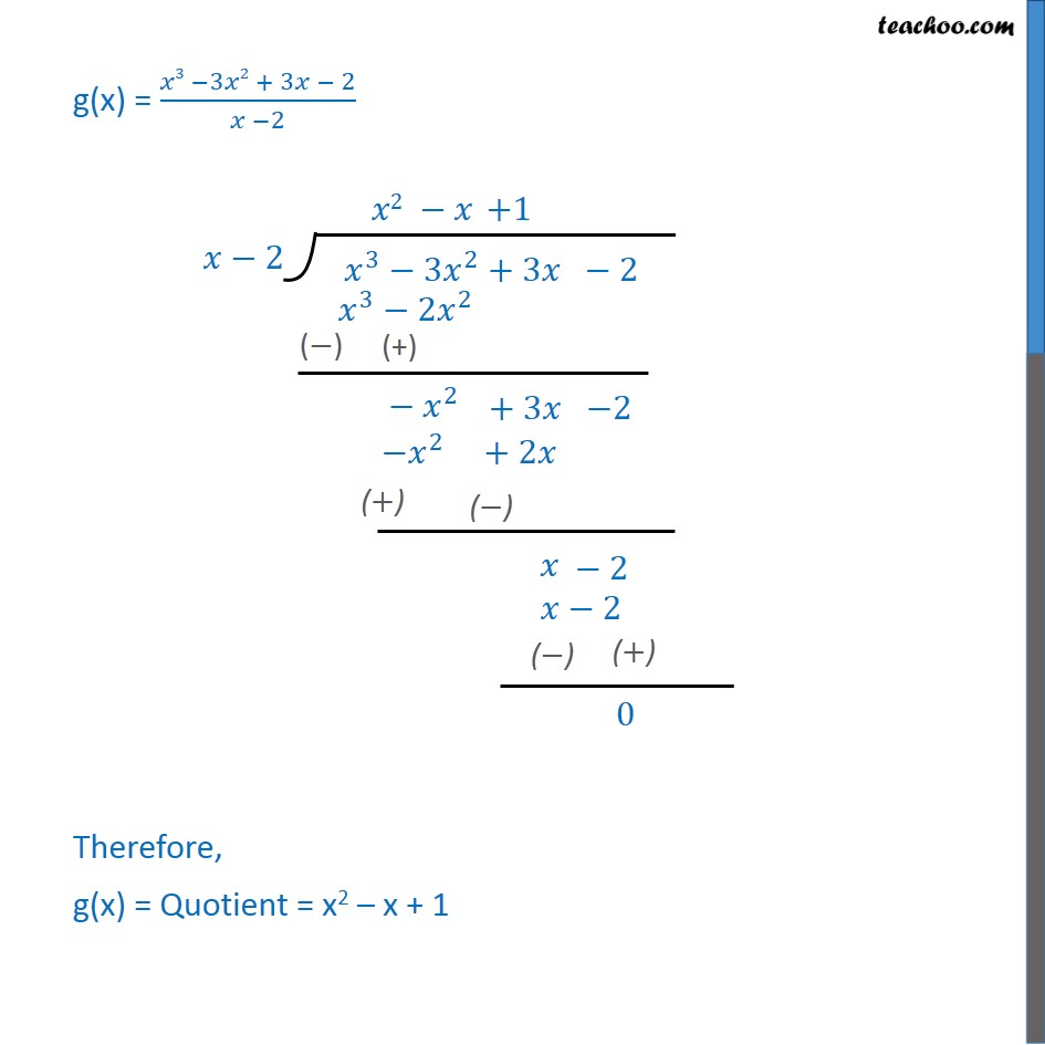 Ex 2.3, 4 - Chapter 2 Class 10 Polynomials - Part 3