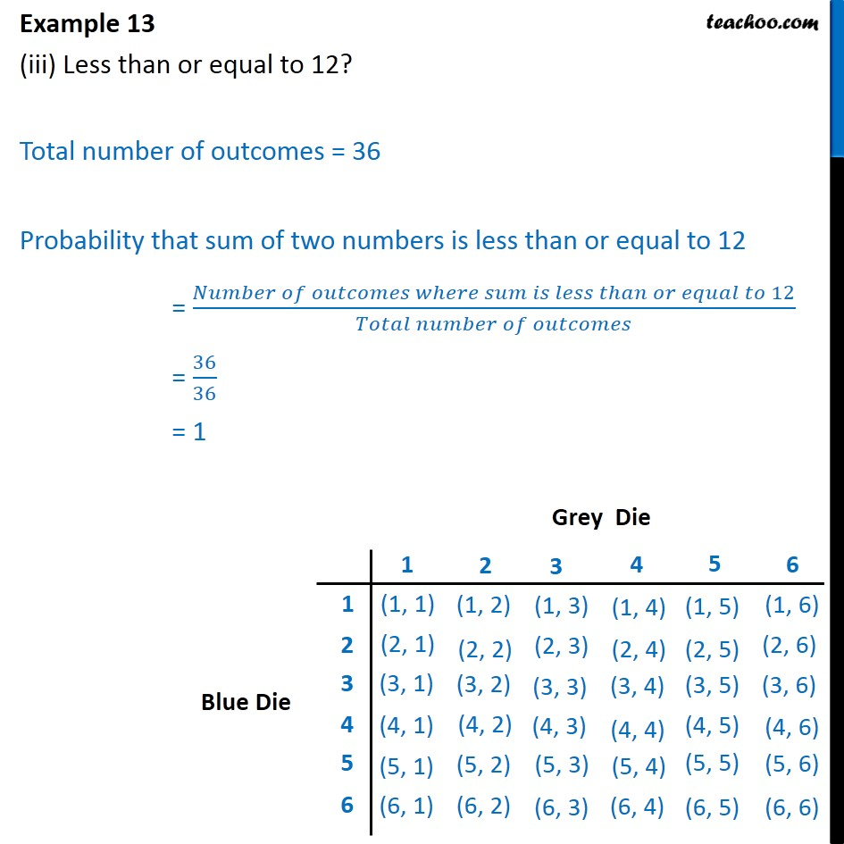 Example 13 - Chapter 15 Class 10 Probability - Part 3