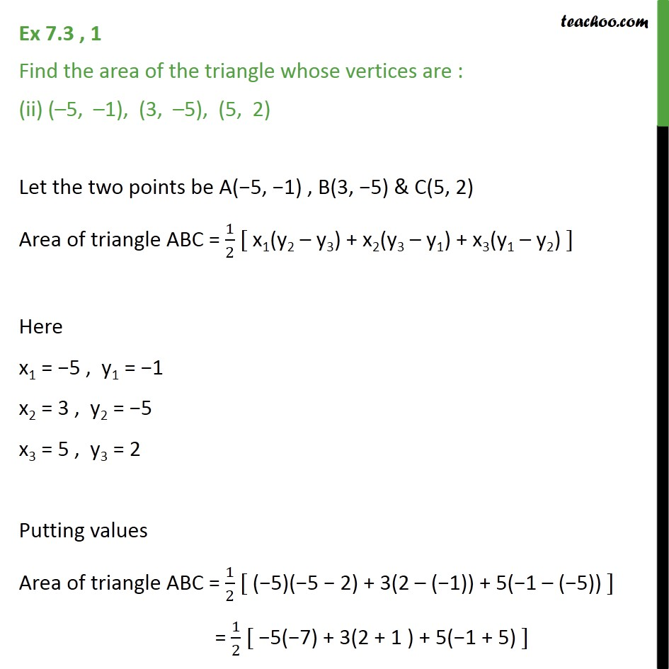 Ex 7.3, 1 - Chapter 7 Class 10 Coordinate Geometry - Part 3