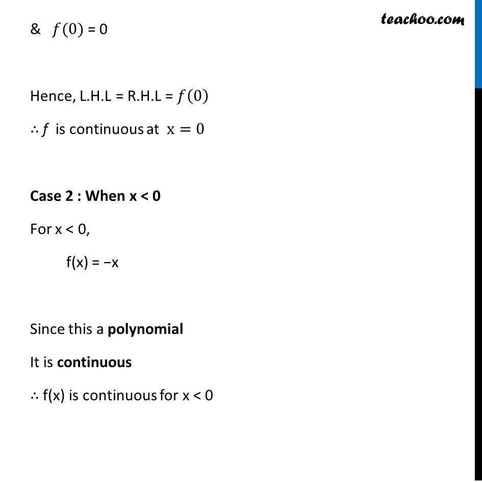 Example 7 - Chapter 5 Class 12 Continuity and Differentiability - Part 3