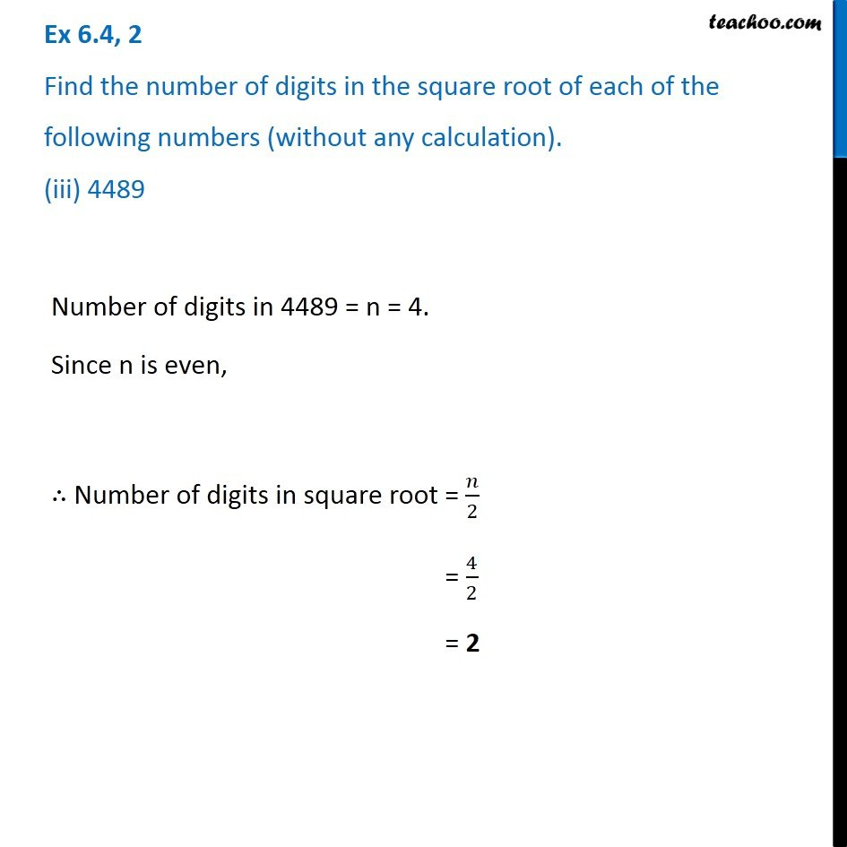 Ex 6.4, 2 - Chapter 6 Class 8 Squares and Square Roots - Part 3