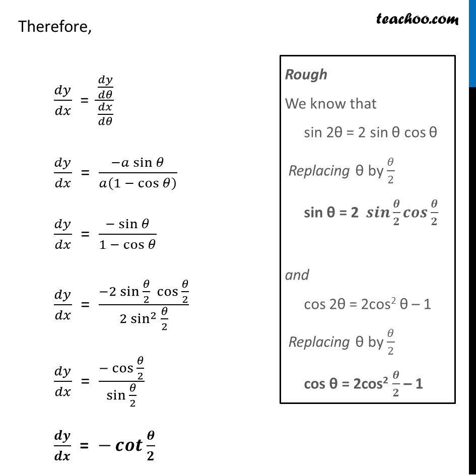 Ex 5.6, 6 - Chapter 5 Class 12 Continuity and Differentiability - Part 3