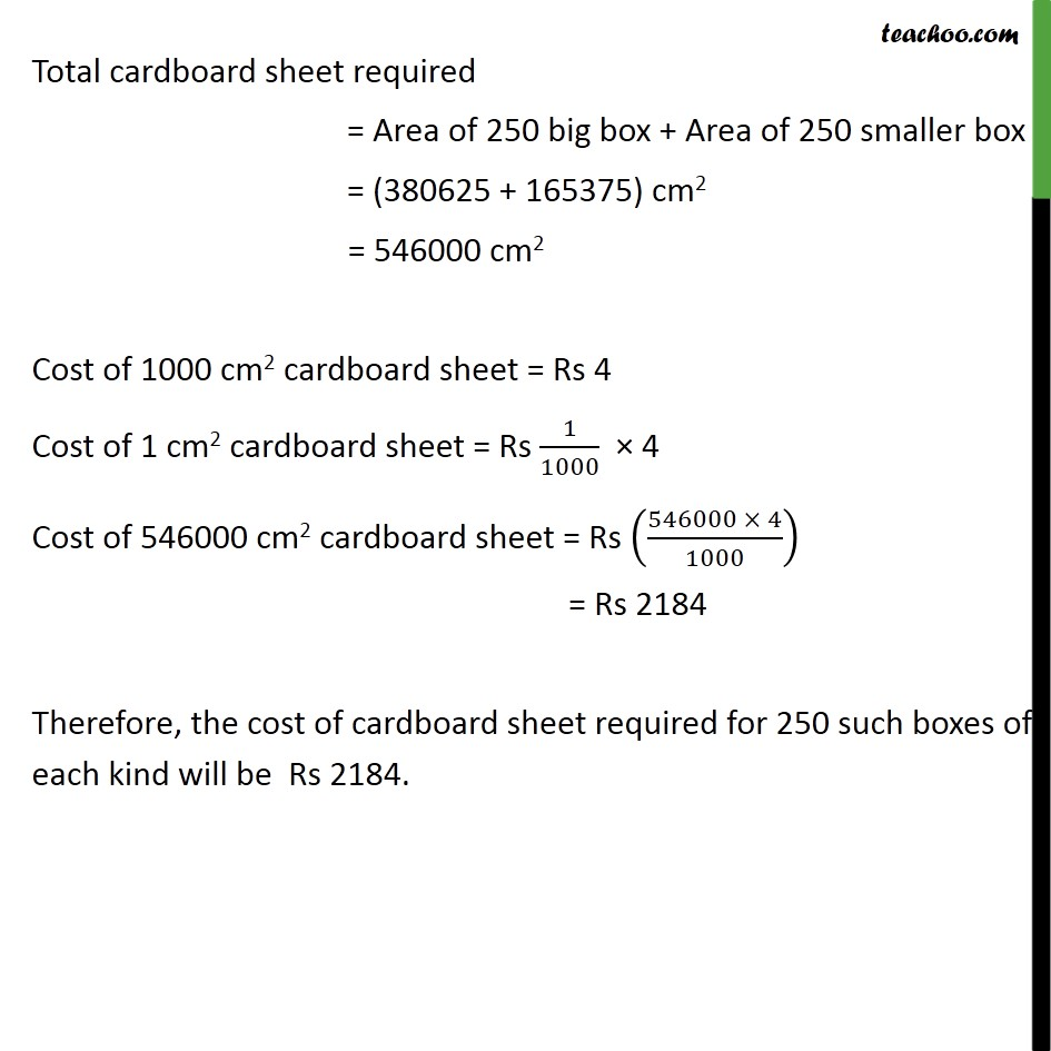 Ex 13.1, 7 - Chapter 13 Class 9 Surface Areas and Volumes - Part 5