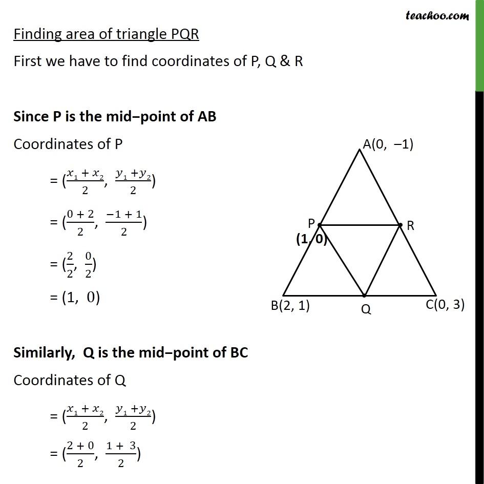 Ex 7.3, 3 - Chapter 7 Class 10 Coordinate Geometry - Part 3
