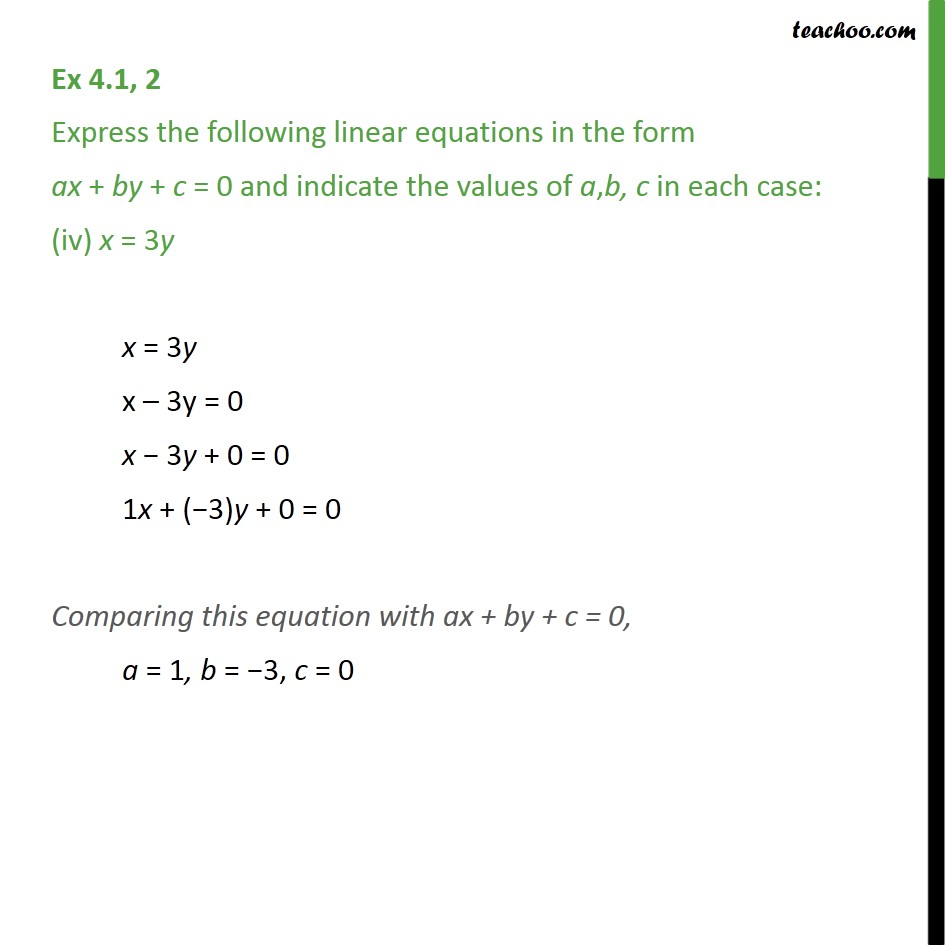 Ex 4.1, 2 - Chapter 4 Class 9 Linear Equations in Two Variables - Part 4