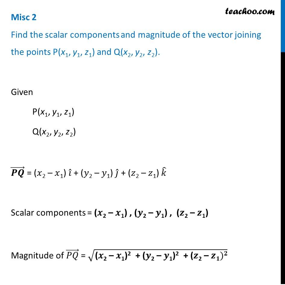 Misc 2 - Chapter 10 Class 12 Vector Algebra - Part 2